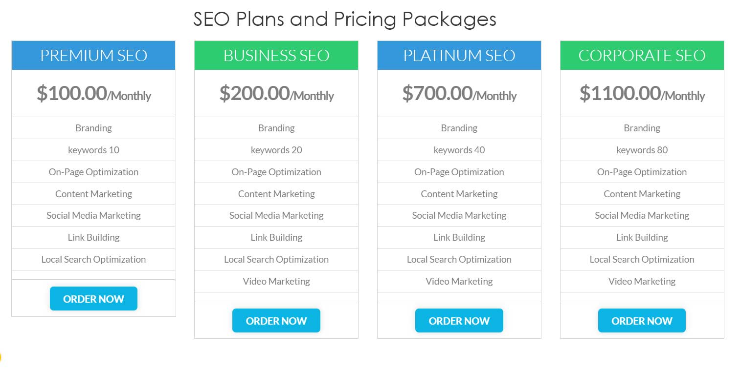 SEO Plans and Pricing Packages